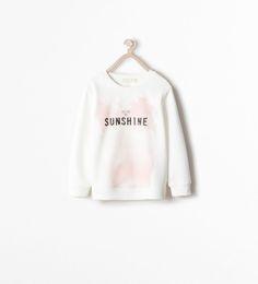 Image 1 of SEQUIN SWEATSHIRT WITH TEXT from Zara