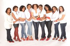 """We """"Rock the Red Pump"""" to represent the strength and courage of those women infected and affected by HIV/AIDS"""
