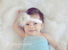 Photo Prop Baby Headband Christmas Headband by nanarosedesigns
