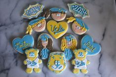 UCLA Graduation Iced Sugar Cookies | SugaredandIced.com