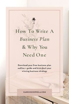 Struggling to write your wedding business plan? Listen to this podcast episode as I walk you through how to develop your wedding business plan, including a free business plan template, guide and outline to get you jumpstarted. Available on the Power in Purpose Podcast, hosted by Candice Coppola, business mentor, coach, published author, and wedding planner/designer. This business plan template for your wedding business will help you create strategies that work, book you more clients, and… Business Plan Outline, Free Business Plan, Writing A Business Plan, Business Plan Template, Business Advice, Business Planning, Start Up Business, Online Business, How To Get Clients