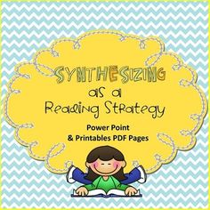 Synthesizing as a Reading Strategy, Power Point, Student Pages Easel Activities, Reading Activities, Teaching Strategies, Teaching Resources, Benchmark Literacy, Theme Of A Story, Smart Board Lessons, Interactive Student Notebooks, Interactive Presentation