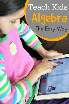Best Math App for Kids - Teach even young children algebra with this fun math app!