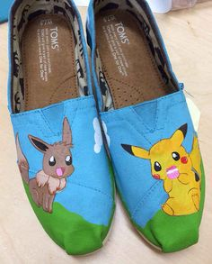 Gotta catch 'em all! | 25 Beautifully Hand-Painted TOMS For Every Fandom