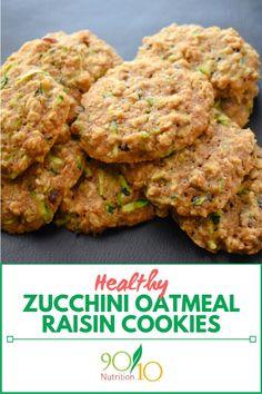 Zucchini Oatmeal Raisin Cookies