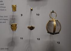 The Ashmolean Museum:  Princely Burials in Frankia, a group of artifacts from  Picquigny, France. 600-700.  Photograph by Lindsay Kerr.