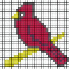 40 ideas for knitting charts birds alpha patterns Bead Loom Patterns, Beading Patterns, Crochet Patterns, Cross Stitch Designs, Cross Stitch Patterns, Cross Stitch Christmas Ornaments, Knitting Charts, Loom Knitting, Iron Beads