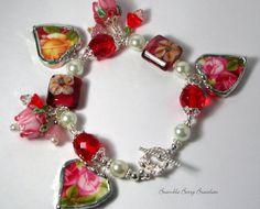 Broken China Bracelet Charm Bracelet by brambleberrybracelet