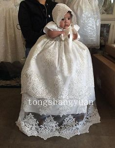 Pretty Florence Christening Gown Ivory but too expensive for my like Girls Baptism Dress, Baby Boy Baptism Outfit, Baby Christening Gowns, Baptism Gown, Baby Baptism, Baby Girl Dresses, Baby Dress, Flower Girl Dresses, Baptism Ideas