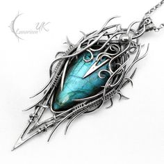 DYRKNHNAR - silver and labradorite. by LUNARIEEN on DeviantArt