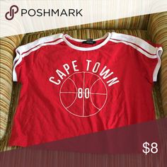 Capetown athletic crop top Cute crop top from forever 21 Forever 21 Tops Crop Tops