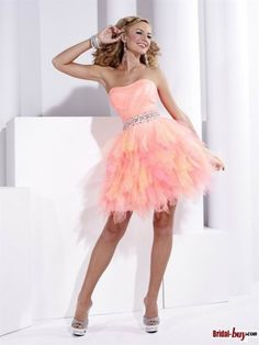 """Sexy Pink Short Cocktail Dresses - would love this in a more """"mature"""" color.  Love the skirt!"""
