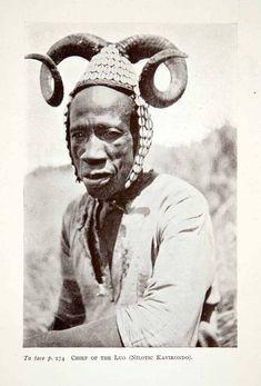[Ω] Chief of Luo Tribe (1923) - Ancestral to the Bantu (Nilotic Kavirondo). Image only for this post.