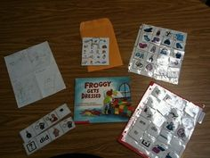 Free template for froggy gets dressed by jonathan london print in free template for froggy gets dressed by jonathan london print in color laminate or make a felt set slp book related freebies pinterest felting pronofoot35fo Images