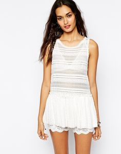 Free People Pucker Lace Cami