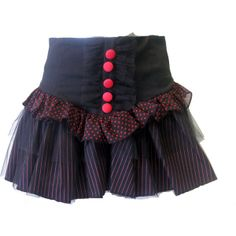 Living Dead Souls Corset Skirt | Gothic Clothing | Emo clothing |... ($31) ❤ liked on Polyvore