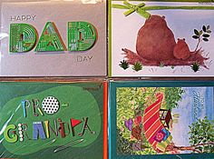 PAPYRUS Father's Day Greeting Card Lot of 4 Cards Green 01114416 #Papyrus #FathersDay