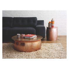 ORRICO Rose gold hammered aluminium side table