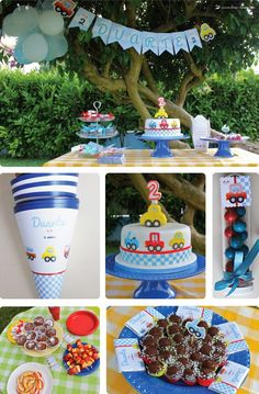 A cute party with little cars as a theme