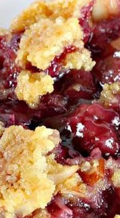 Cobbler TEXAS COBBLER ~~~ Spectacular dump cake-type dessert using blueberry and cherry pie fillings, crushed pineapple, almonds and coconut. Great for holiday entertaining and potlucks.Filling Filling may refer to: Dump Cake Recipes, Fruit Recipes, Desert Recipes, Baking Recipes, Sweet Recipes, Recipies, Sweet Cherry Recipes, Bisquick Recipes, Cherry Desserts