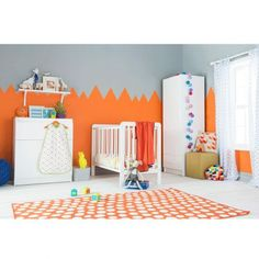 Kiddicare Chloe Nursery Furniture Cot Roomset White