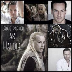 Craig Parker as Haldir by Heather Sondreal
