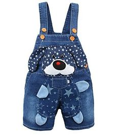 Baby Boys Girls Jeans Overalls Shorts Toddler Kids Denim Rompers Cute Cartoon Bebe Jumpsuit For Summer Bib Pants Clothes Toddler Outfits, Baby Boy Outfits, Kids Outfits, Toddler Girls, Baby Boys, Cartoon Monkey, Baby Cartoon, 3d Cartoon, Denim Decor