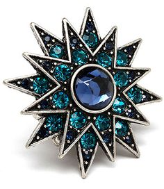 #Ring #jewelry, love teal gemstones and this star is all about power!