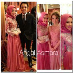 "dress by anggi asmara, prettier in pink than Molly Ringwald was in ""Pretty in Pink"" ;-)"