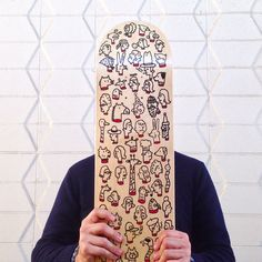 Skate deck by silastom #skate #board #portrait