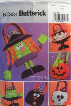 Butterick 4884 Halloween Trick or Treat Bags