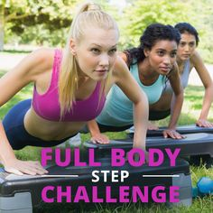 Do you still have the step in your house? Dust it off and take the Full-Body Step Challenge!! #stepchallenge #fullbodyworkout