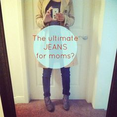 Mom jeans that look good? #spon