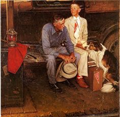 Norman Rockwell: talk about a picture being worth a thousand words....