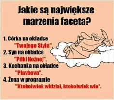 Najważniejsze marzenia faceta. Clueless Aesthetic, Weekend Humor, Soul Healing, Alter, Good Morning, Texts, Comedy, Funny Pictures, Jokes