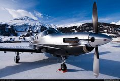 Majestic Pilatus PC-12 in its natural environment. My kind of Swiss miss.
