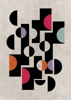 MidCentury Modern Geometric Pattern Print by PrintsProject