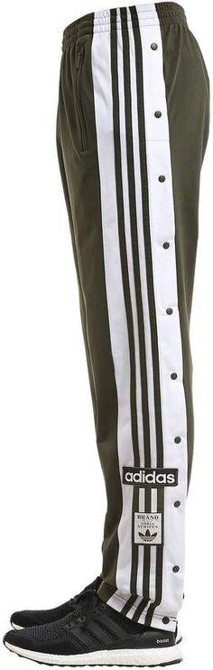 ADIDAS ORIGINALS, Og adibreak techno track pants, Army green, Luisaviaroma - Elastic waistband with internal drawstring . Stripes down sides. Two side zip pockets . Mens Athletic Pants, Adidas Og, Army Green, Techno, Adidas Originals, Track, Stripes, Sweatpants, Zip