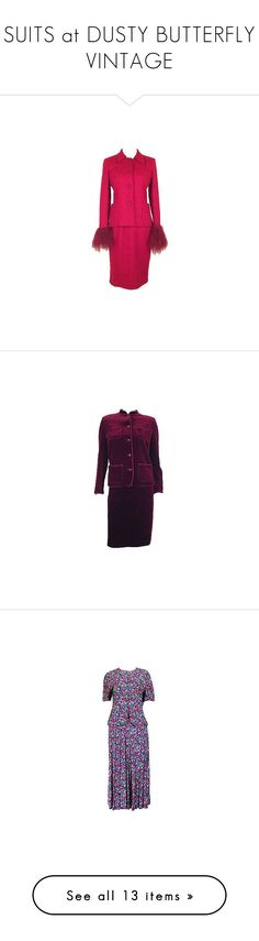 """""""SUITS at DUSTY BUTTERFLY VINTAGE"""" by dustybutterflyvintage on Polyvore featuring vintage two piece and grey"""