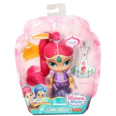 """Fisher-Price 6 inch Shimmer and Shine Doll - Shimmer - Fisher-Price - Toys""""R""""Us Kids Store, Toy Store, Shimmer And Shine Characters, Kids Toys Online, Spiderman, Batman, Pet Monkey, Fisher Price Toys, Doll Party"""