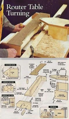 Router Table Turning - Router Tips, Jigs and Fixtures | WoodArchivist.com #woodworkingbench #WoodworkIdeas