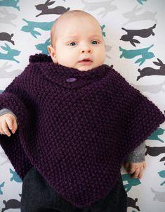 Catalogue Débutantes 1 Automne / Hiver | 25: Layette Poncho | Violet