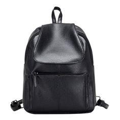 Fashion Waterproof PU Leather Backpack Girls Leisure Women Backpack School  Bag for Teenage Rucksacks Bolsa Feminina Mochilas 8fdd6018e3