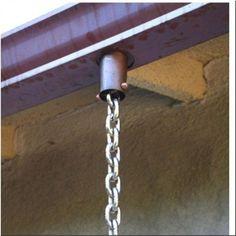 Homemade Rain Chain   ... Rain Chains A Decorative Alternative to Gutter Downspouts - Rain chain