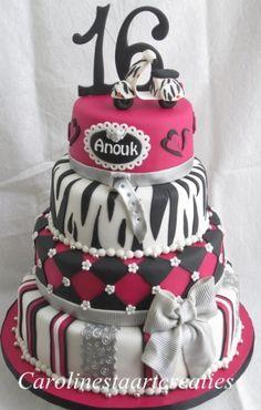 sweet sixteen taart Sweet Sixteen awesome cake | Food | Pinterest | Sweet sixteen  sweet sixteen taart