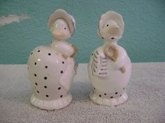 Fitz and Floyd Ducks Drying Dishes Salt Pepper Shakers