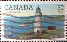 Canada  - SC#1034 - 1984 - Lighthouses -Louisbourg, N.S. built 1734.