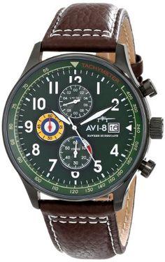 "AVI-8 Men's AV-4011-05 ""Hawker Hurricane"" Stainless Steel Watch with Brown Leather Band AVI-8 http://www.amazon.com/dp/B00FR70MWW/ref=cm_sw_r_pi_dp_MMflub0DS6WXE"