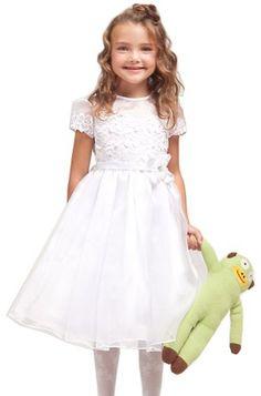 White Flower Girl Dress or Communion Dress   First Communion ...