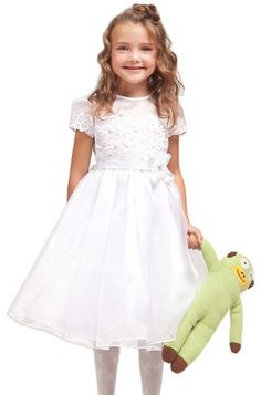 KID Collection Girls White Flower Girl Communion Dress Size 4 Kid Collection,http://www.amazon.com/dp/B008XSVMMG/ref=cm_sw_r_pi_dp_218XrbB81CA24792, cute, tailor for Annie
